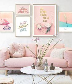 Bedroom Art, Home Decor Bedroom, Girls Bedroom, Decor Room, Pop Art Pictures, Home Decor Pictures, Pictures For Bedroom Walls, Pink Home Decor, Vintage Home Decor