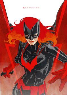 Bat woman Art by J.G. Jones