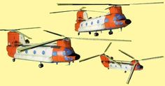 This aircraft paper model  is a Boeing CH-47 Chinook , an American twin-engine, tandem rotor heavy-lift helicopter, the paper model  is crea...