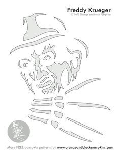 Image result for freddy pumpkin stencil
