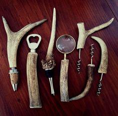 Antler Lamp, Deer Antler Ring, Deer Antlers, Diy Bottle Opener, Bottle Stoppers, Halfling Rogue, Deer Antler Crafts, Small Deer, Antler Jewelry