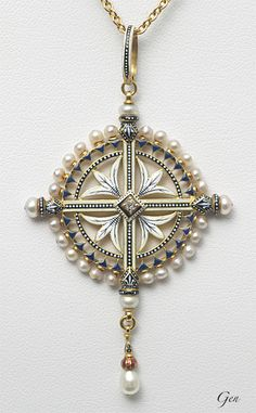 カルロ・ジュリアーノ  Carlo Giuliano in 2019 Cross Jewelry, Stone Jewelry, Pearl Jewelry, Jewelry Art, Antique Jewelry, Vintage Jewelry, Jewelry Accessories, Jewelry Design, Pearl Pendant