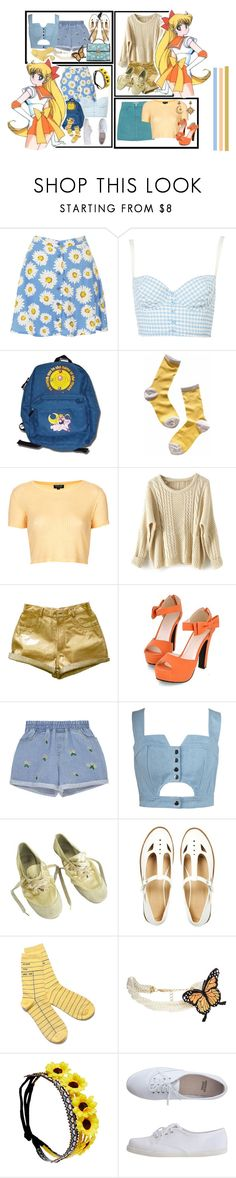 """Minako Aino"" by bambolinadicarta-1 ❤ liked on Polyvore featuring Motel, Madewell, GUESS, Topshop, Luna, JY Shoes, Chicnova Fashion, Ash, ASOS and Out of Print"