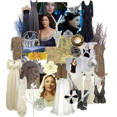 The Ladies of Middle-earth - Lord of the Rings by karalala on Polyvore featuring Alice by Temperley, Halston Heritage, John Lewis, Alexander McQueen, Vera Wang Lavender Label, Ichi, Sophia Costas, Avalaya, Stephen Webster and Temperley London