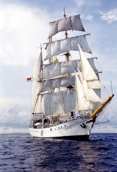 Construction on DEWARUCI began in Germany prior to World War II, but was not completed until 1952.  She sails for the Indonesian Navy as a sail training vessel and is named after the Indonesian mythological god of courage and sincerity.