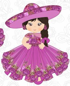 Mexican Birthday Parties, Mexican Party, Dot Painting, Fabric Painting, Mexican Independence Day, Mexican People, Mexican Babies, Purple Themes, Mexican Dresses