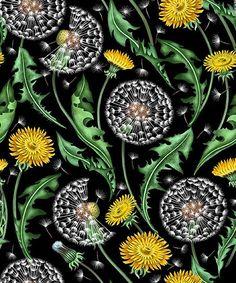 'Dandelions' textile design / Elmira Amirova