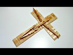 TUTORIAL: Cómo hacer una cruz con pinzas de la ropa   Reciclaje   Mundo@Party - YouTube
