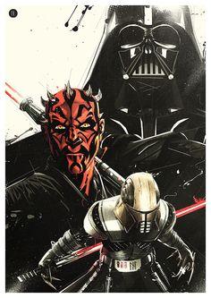 Cool Art: Darth Vader, Darth Maul & Galen Marek