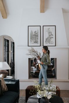 A Day In The Life - Chris Loves Julia Chris Loves Julia, Fireplace Design, Fireplace Art, Fireplaces, Modern Cottage, Modern Farmhouse, Living Room Inspiration, Interior Inspiration, Modern Classic