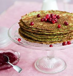 Spinach Pancakes, Pancakes And Waffles, Scandinavian Food, Natural Lifestyle, Yummy Food, Breakfast, Yum Yum, Roots, March
