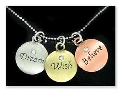 New BELIEVE WISH DREAM NECKLACE charms INSPIRED JEWELRY GIFT reach moon stars in Jewelry & Watches, Fashion Jewelry, Necklaces & Pendants | eBay