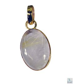 #Rutiled #quartz Gold Plated #Fashion #pendant #Artificial #RiyoGems #Jewelry #Jewellery #gems #gemstone