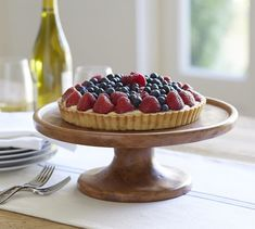 Place your pie on the most refined Vintage Wood Carved Cake Stand.