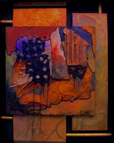 Rustic Collection by Carol Nelson  mixed media abstract painting