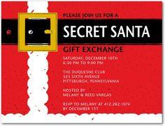 secret santa email template - secret santa christmas party invitations festive zazzler