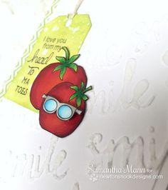 Funny Tomato card by Samantha Mann | Vegetable Garden stamp set by Newton's Nook Designs #newtonsnook