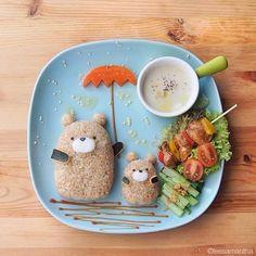Fairy Tales on Plates - kawaii food art Amazing Food Art, Cute Food Art, Food Art For Kids, Creative Food Art, Art Kids, Children Food, Kids Fun, Creative Design, Bento Recipes