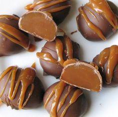 Chocolate Caramel Truffles #recipe #truffle