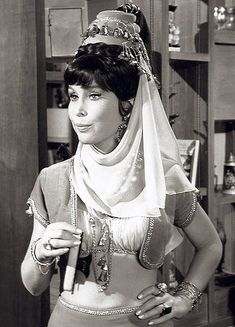 Barbara Eden as Jeannie's sister, Jeannie II (Seasons 3-5) in I Dream of Jeannie (1965-70, NBC).