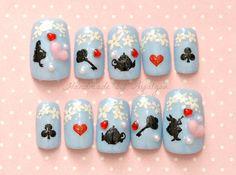 Kawaii nails sweet lolita fairy kei gothic alice in by Aya1gou, $19.00