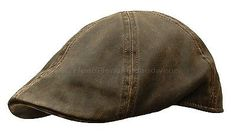 WEATHERED COTTON DUCKBILL IVY CAP GATSBY BROWN NEWSBOY HAT GOLF FLAT DRIVING