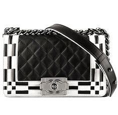 e21f42e92006 Chanel Black White Boy Chanel Quilted Flap Medium Bag - Spring 2014 Act I  Chanel