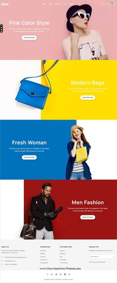 New design branding fashion wordpress theme Ideas Homepage Layout, Homepage Design, Web Design Tips, Email Design, Clean Design, Blog Layout, Grid Layouts, Website Design Inspiration, Fashion Website Design