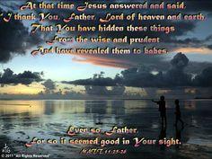 Bible verse picture on Matt 11:25-26