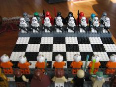 Lego Star Wars chess set.