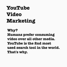 Why would you consider marketing your BPS (brand-product-service) on YouTube? #YouTubeMarketing