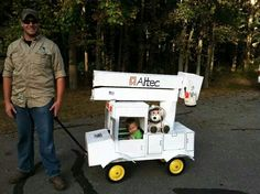 This is awesome! Wagon turned bucket truck!