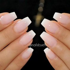A French manicure is a truly classic nail polish look. Perfect for a clean, cris. A French manicure is a truly classic nail polish look. Perfect for a clean, crisp and stylish finish to any outfit, the French manicure is often favoured by man Classy Acrylic Nails, Natural Acrylic Nails, Natural Nails, Acrylic Gel, French Acrylic Nails, Natural Makeup, Classy Nails, Natural French Manicure, Natural Beauty