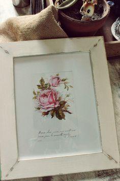 Tienda La Florinda: Cuadros rosas vintage