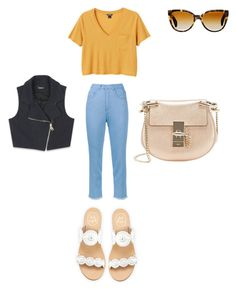 """""""Untitled #124"""" by ghgdancer1 on Polyvore featuring Marques'Almeida, Monki, Jack Rogers, Oliver Peoples, Chloé and Bebe"""