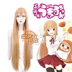 HIMOUTO!UMARUCHAN Doma Umaru Long Pink Orange Anime Cosplay Wig TBZ1087 - CosplayBuzz