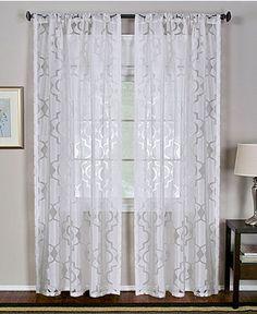 "for the shower? Elrene Windows, Montego Burn Out Sheer 52"" x 84"" Panel - Window Treatments - Home Decor - Macy's"