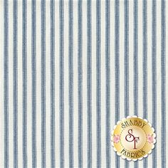 Anne of Green Gables C5868-BLUE Ticking Blue by Penny Rose Fabrics: Anne of Green Gables is a lovely fabric collection by Riley Blake Designers for Penny Rose Fabrics.Width: 43