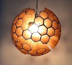 Lamp: Sphere of Hexagonal Cells by Margaret Barry ⊚ pinned by www.megwise.it #megwise #lightmyfire