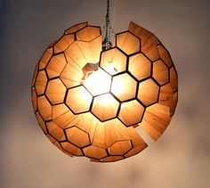 Lamp: Sphere of Hexagonal Cells by Margaret Barry