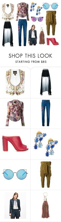 """""""Fashion show"""" by donna-wang1 ❤ liked on Polyvore featuring Roberto Cavalli, Wandering, Jean-Paul Gaultier, Gucci, Erika Cavallini Semi-Couture, Matthew Williamson, Faith Connexion, Brooks Brothers, Xaa and Christopher Kane"""