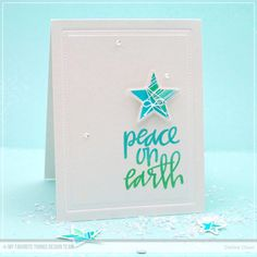 Stars Above Stamp Set and Die-namics, Hand-Lettered Christmas Stamp Set - Debbie Olson   #mftstamps