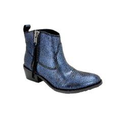 Sacha London Helen Boot - Navy Metallic #sachalondon #boots
