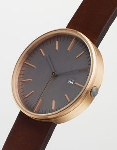 203 PVD Rose Gold & Walnut by Uniform Wares $390