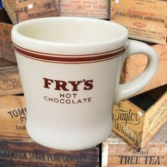Vintage Fry's coffee mug for your hot chocolate! From eBay. I Love Coffee, Mug Cup, My Ebay, Hot Chocolate, Whiskey, Coffee Mugs, Tea, Gifts, Vintage