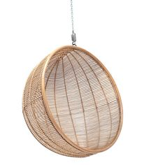 Ciel Bali Hanging Chair, Rattan Inside Outside Living ($1,160) ❤ liked on Polyvore featuring home, outdoors, patio furniture, hammocks & swings, black basket, bali basket, ciel, outdoor hanging chair and rattan basket