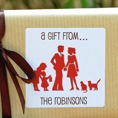 Personalized Gift Tags / Stickers / Labels  Family by saratams, $18.00  (wonder if a certain designer husband could create me something similar? @Tom Counihan)