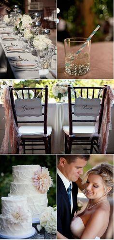 obsessed with the bride and groom chairs