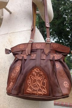 Authentic Mexican Hand-tooled Leather Purses by VegaLeatherGoods