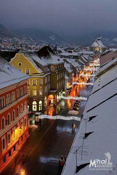 Brasov The Beautiful Country, Beautiful Places, Brasov Romania, Romania Travel, Europe, Roman Holiday, Mountain Resort, Modern City, Old World Charm